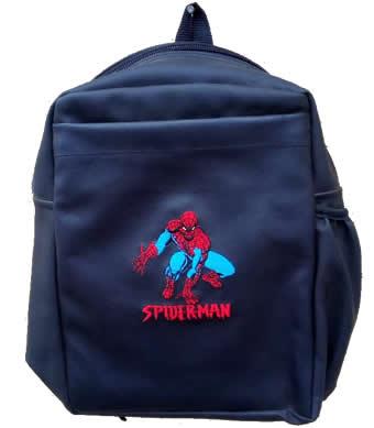 Spiderman Single Pad School Bag Small Size Black Leather