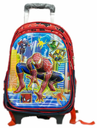 Spiderman trolley bag removable