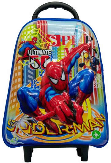 Spiderman Preschool 3D Trolley Bag