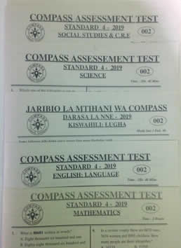 Compass Code 002;  STD 4, 2019 Revision Papers.- set