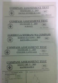 Compass Code 002; 2019 Revision Past papers STD 5 - set.