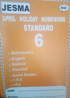 Jesma Holiday Homework STD 6