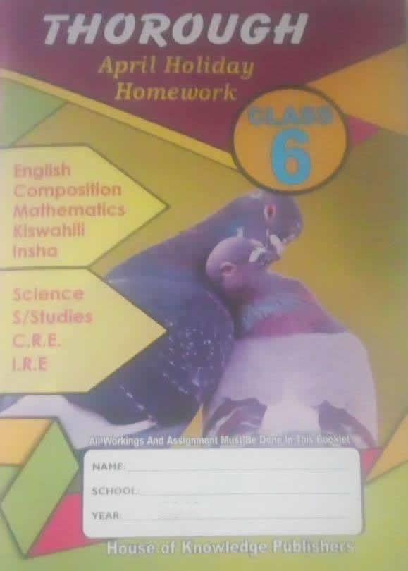 Thorough Holiday Homework Book STD 6