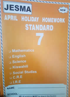 Jesma Holiday Homework STD 7