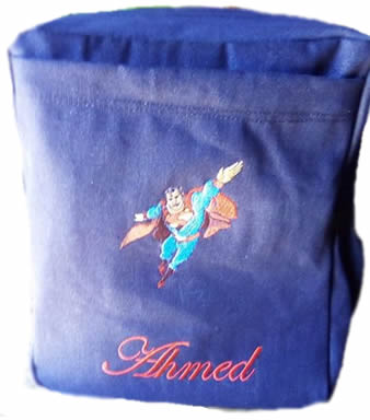 Superman Denim Bag with name print
