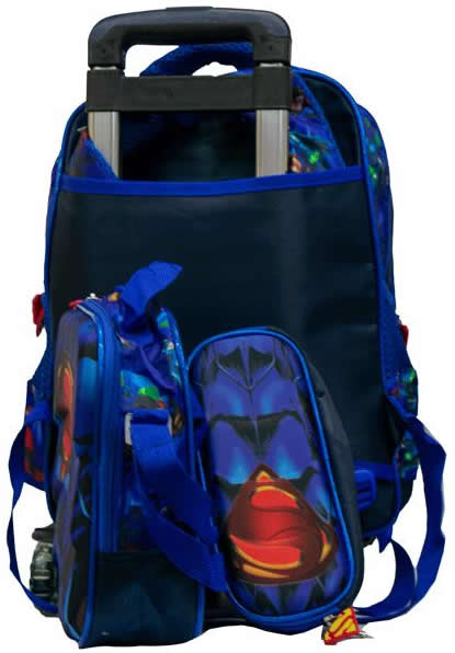 Superman Removable 3in1 Trolley Bag Blue Theme
