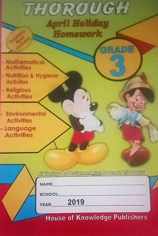 Thorough Homework Grade 3 April 2019