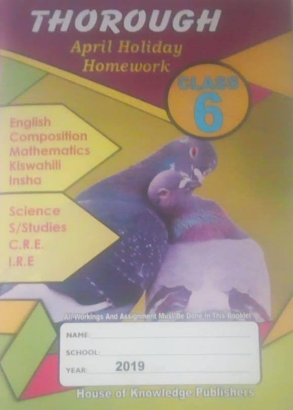 Thorough Homework Std 6 April 2019