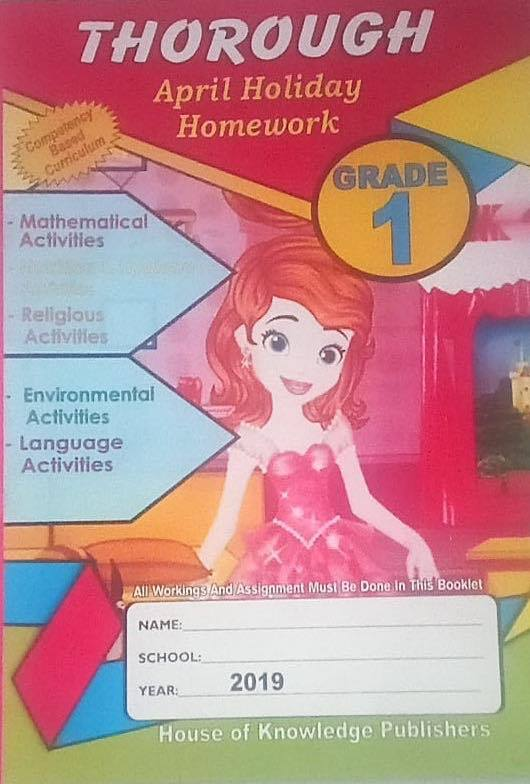 Thorough Homework Grade 1 April 2019
