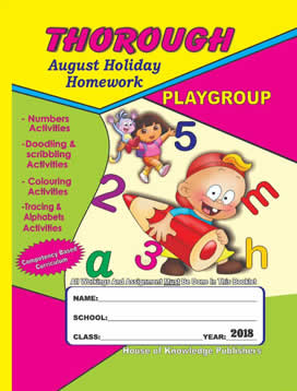 Thorough Homework August Playgroup