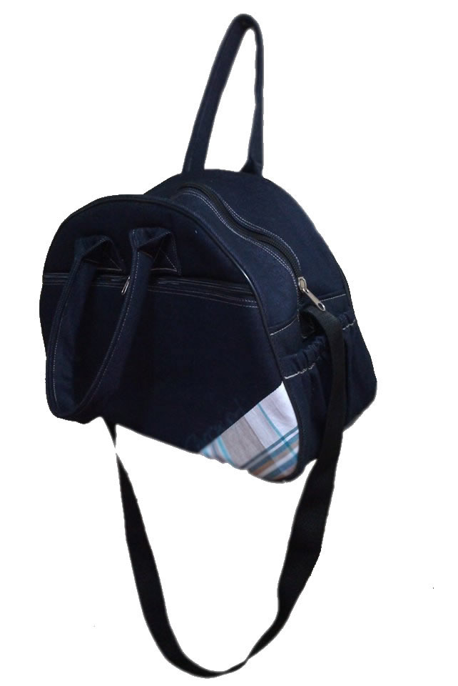 Travel Bag denim with material corner finishing