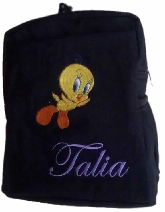 Tweety Bird Denim Bag With Name