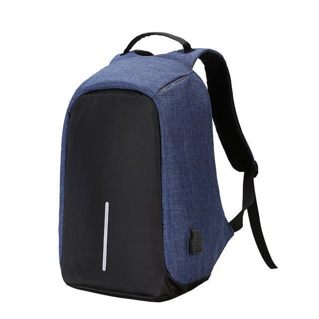 Anti Theft Design Backpacks Navy Blue