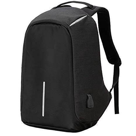 Anti theft design Backpacks Black